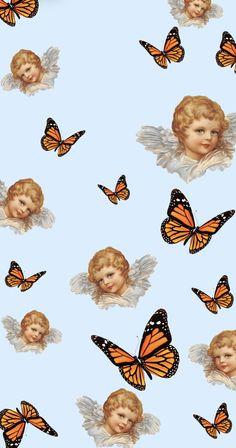 butterflies and angels wallpaper