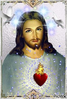 Jesus And Mary Pictures, Pictures Of Jesus Christ, Religious Pictures, Jesus Christ Painting, Jesus Art, God Jesus, Indian Flag Images, Christ Tattoo, Image Jesus