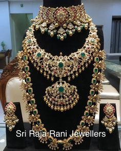 In Every ones eyes and word. Stand apart from the crowd by being eye catcher. Heritage Ruby and Rosecut kundan choker with Flat Polki medium haar and peacocks haar. MAHARANI COLLECTIONS from Sri Raja Rani Jewellers. 11 June 2019