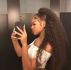 black women's hairstyles a Weave Ponytail Hairstyles, Baddie Hairstyles, Curly Ponytail Weave, Natural Weave Hairstyles, Natural Hair Ponytail, Thick Hairstyles, African Hairstyles, Curly Hair Styles, Natural Hair Styles