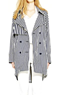 SO'VONE Double Waching Coat - Stripe