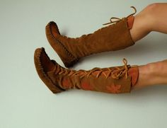 MADE TO ORDER Laceup moccasins by ravenmountain on Etsy
