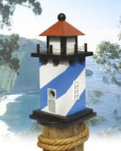 19-W2988 - #Lighthouse #Birdhouse Woodworking Plan http://www.woodworkersworkshop.com/store/index.php?app=ecom&ns=prodshow&ref=19_W2988