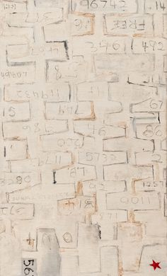 https://flic.kr/p/GP4NVp | Robert Rauschenberg, 22 The Lily White, ca. 1950, Oil and graphite on canvas 11/20/17 #sfmoma