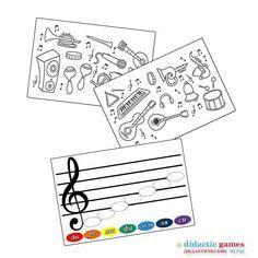 Раскраски и аппликация с нотами, входит в музыкальный набор игр #didacticgames_музыка.