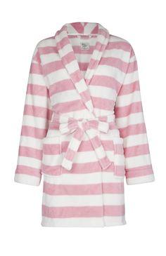 Primark - Peignoir rose et blanc à rayures