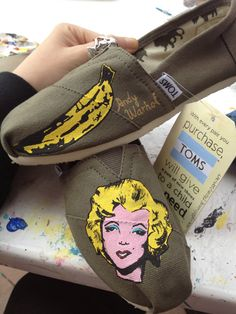 Custom Painted Shoes by AdrienneThompsonArt on Etsy, $25.00