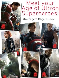 Meet the Age of Ultron Superheroes!
