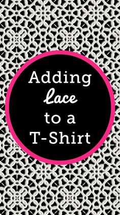 Lace isn't only used on fancy dresses or home decor projects- it can be added to a basic t-shirt with side seams as an easy way to dress it up. Ashley Hough shows you how.