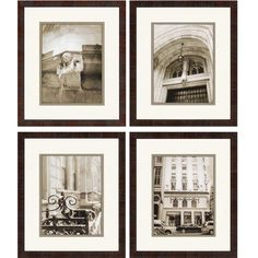Manhattan Memories Giclee by Sikes 4 Piece Framed Photographic Print Set