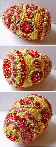 Crochet Faberge type egg | Fun to do! About 6 inches long, f… | Flickr