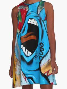 GRAFFITI Face Fashion http://www.redbubble.com/people/cartoonistlg/works/21696193-graffiti-face-fashion?asc=t&p=a-line-dress via @redbubble #fashion #streetfashion #urbanfashion #graffiti