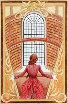 Sheehanmebaby.tumblr.com - Tessa Gray entering the London Institute Library from The Infernal Devices by Cassandra Clare. Made with Watercolors.