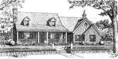 Elevation of Bungalow   Country   House Plan 97890
