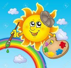 Rainbow Sun with Rainbow Blue Sky & Rainbow always together as one. ❤