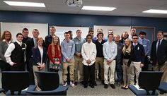 HS Junior Achievement holds final board meeting.