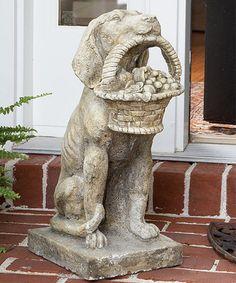 Loving this Dog Flower Basket Statue on #zulily! #zulilyfinds
