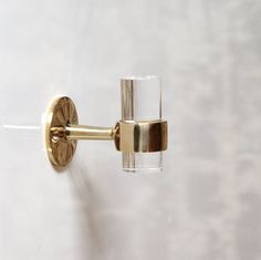 Lucite Robe Towel Hook -  Polished Brass / Polished Nickel/ Chrome