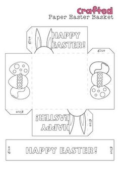 Easter basket template free kindergartenklub pinterest printable easter baskets pronofoot35fo Image collections