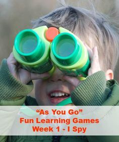 Making colour learning fun and honing observation skills. The very simple game of I Spy.