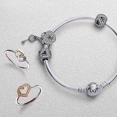 Amazing love inspired bracelet and rings #PANDORAbracelet