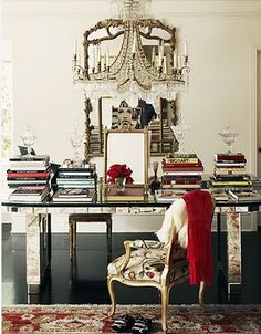 Chic Office - great writing desk with stylish accessories - awesome home office