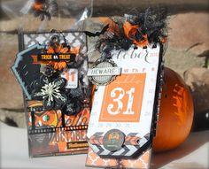 It's a Prima-Glitz Swap! Mini-Album treat box by Steff! Halloween Goodie Bags, Halloween Tags, Halloween Photos, Holidays Halloween, Halloween Stuff, Halloween Ideas, Mini Photo Albums, Mini Albums, Hello October