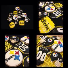 NFL themed baby shower cookies