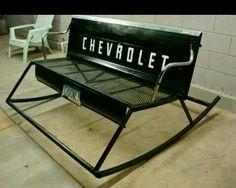 Love this rocking bench!