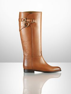 Sashi Equestrian Calfskin Boot - Collection Shoes   Shoes - RalphLauren.com