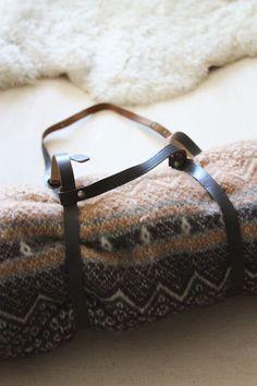 Vintage Soviet Leather Blanket Straps