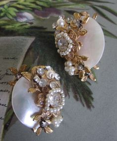 Vintage Miriam Haskell Gold Baroque Pearl & by CornermouseHouse, $45.00