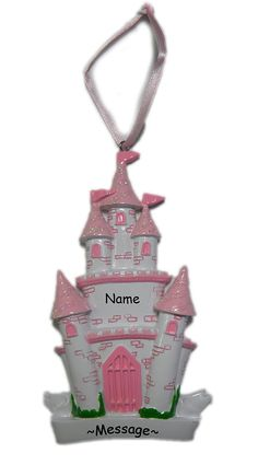 Personalized Christmas Ornaments (Gift) - FREE PERSONALIZATION - FAST SHIPPING - Castle Ornament - happy new year - 2011 2012 Gift