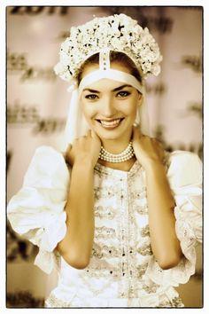 Bride from region Šariš, Eastern Slovakia.