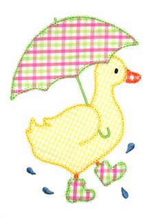 Duck Machine Applique Design by AppliqueChick on Etsy - veganfunnelcake Machine Applique Designs, Applique Templates, Applique Embroidery Designs, Machine Embroidery Applique, Applique Patterns, Applique Quilts, Patch Quilt, Hand Embroidery, Quilt Patterns
