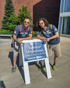 """With the last session of orientation coming to a close, we wanted to thank @samlenson and @knowlesmg0 fondly known as """"Mom & Dad"""" for planning and putting on 6 amazing sessions. We couldn't have brought in the largest class in UMaine's history without your help!"""
