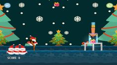Do not panic before Christmas! You need to control the trap of the snowman to catch all presents for children! Use catapult to do it best.