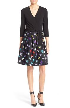 LOVE the print on the skirt of this dress. Diane vonFurstenberg'Jewel' PrintWrap Dress available at #Nordstrom