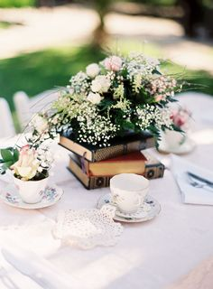Unique Wedding Centerpieces. Given how much I love books, this could work!