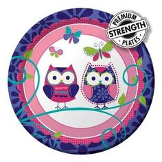 Amazon.com: Creative Converting Owl Pal Round Dessert Plates, 8 Count: Toys & Games