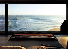 my dream house :) waking up to the ocean. Beautiful Homes, Beautiful Places, Coheed And Cambria, Window View, Window Wall, Interior Exterior, Dream Bedroom, Bedroom Beach, Master Bedroom