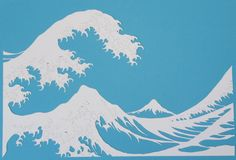 The Wave inspired by Hokusai papercut by CandiceBourada on Etsy