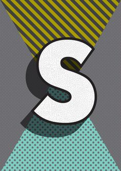 Modern Alphabet Letter S ABC Art Print by Season Of Victory