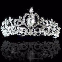 Silver Headband, Crystal Headband, Crown Headband, Crystal Rhinestone, Silver Tiara, Bride Headband, Hair Crown, Headband Hair, Silver Jewelry