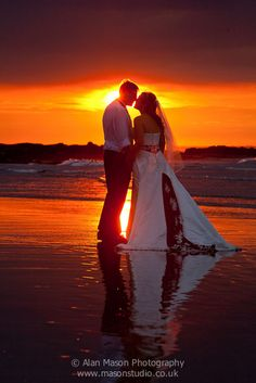 beach wedding photo northumberland