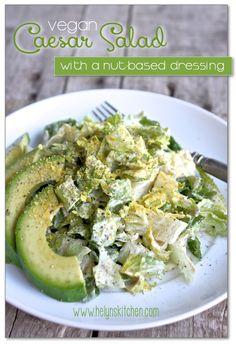 Helyn's Healthy Kitchen: Vegan Caesar Salad to Live For! (nut-based dressing)