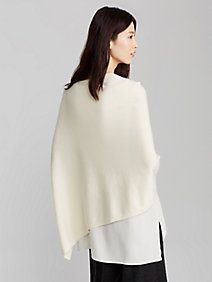 Poncho in Italian Undyed Cashmere