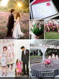Pink and Gray Romantic Wedding