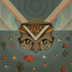 """Eight Feet Beneath The Surface"" Art Print by ART:TECH on Society6."