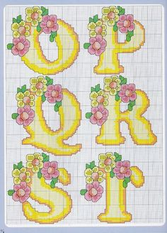 Sandrinha Ponto Cruz: Alfabeto floral: